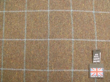 Country Tweed Windowpane Check Fabric AZ97